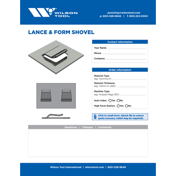 Lance & Form Shovel Template