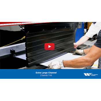 Extra Large Channel Press Brake Application