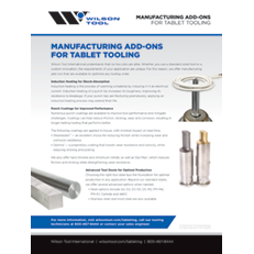 Manufacturing Add-Ons