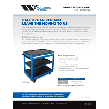 Mobile Storage Cart Flyer