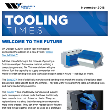 November 2018 Tooling Times