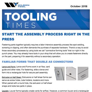 Tooling Times e-Newsletter October 2018