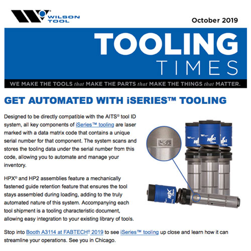 Tooling Times e-Newsletter October 2019