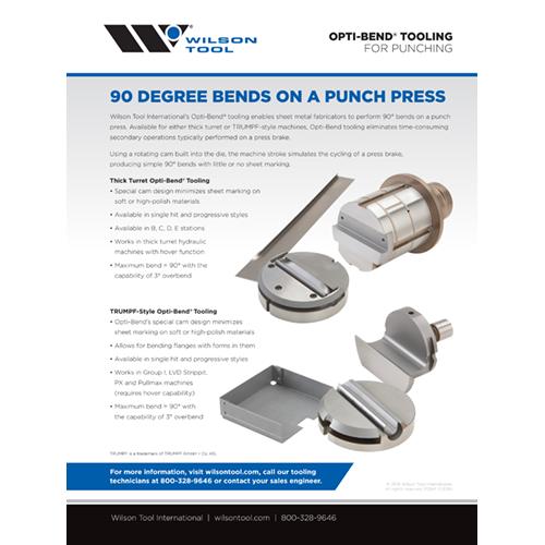 Opti-Bend® Tooling Flyer