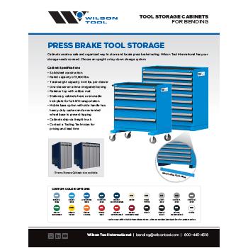 Press Brake Tool Storage Cabinets Flyer