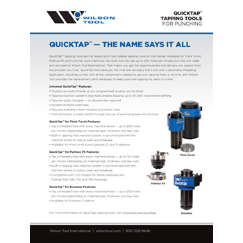 QuickTap™ Tapping Tools