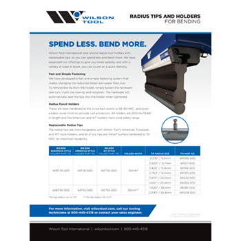 Radius Tips and Holders Flyer