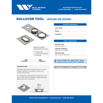Rollover Tool Template