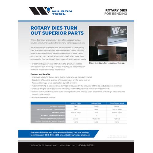 Flyer matrices rotatives