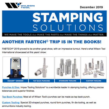 Stamping Solutions e-Newsletter December 2019