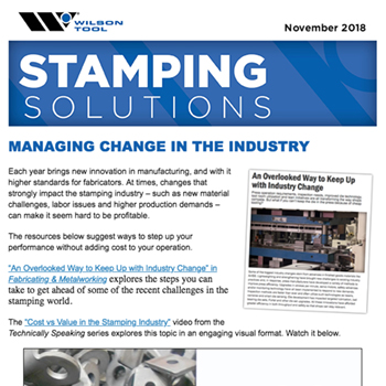 Stamping Solutions e-Newsletter November 2018