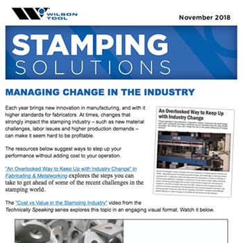 Stamping Solutions e-Newsletter November 2018