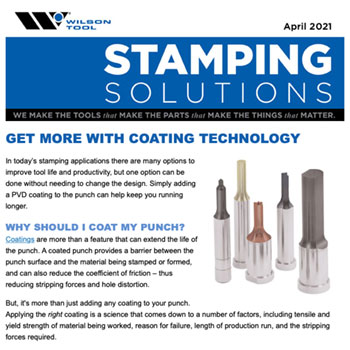 Stamping Solutions e-Newsletter April 2021