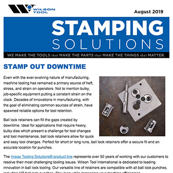 Stamping Solutions e-Newsletter August 2019