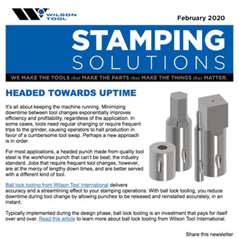 Stamping Solutions e-Newsletter February 2020