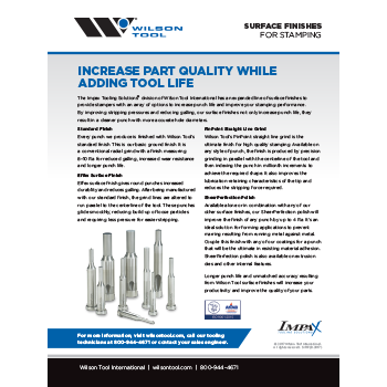 Surface Finishes Flyer