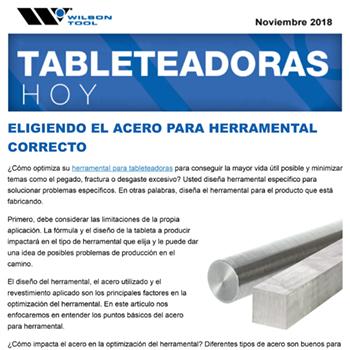 Tableteadoras Hoy Noviembre 2018
