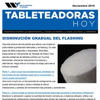 Tableteadoras Hoy Noviembre 2019