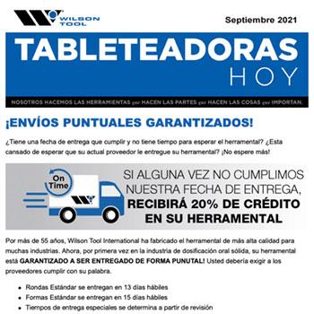 Tableteadoras Hoy Septiembre 2021