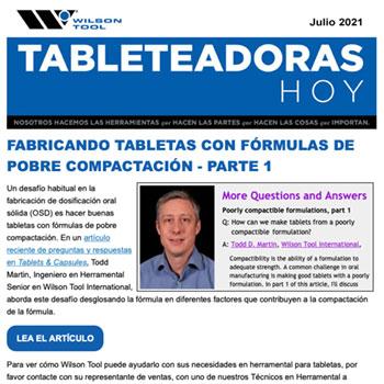 Tableteadoras Hoy Julio 2021