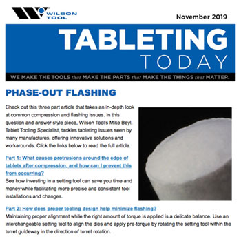 Tableting Today e-Newsletter November 2019 Preview