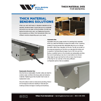 Thick Material Dies Flyer