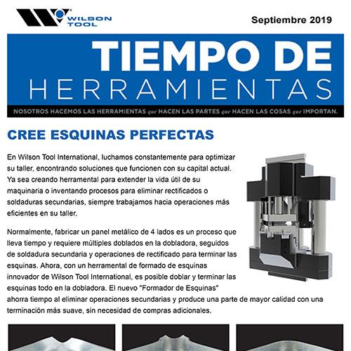 Tiempo de Herramientas Septiembre 2019