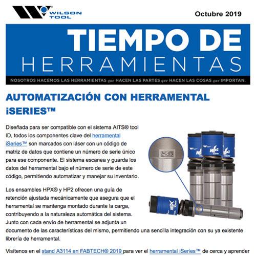 Tiempo de Herramientas Octubre 2019