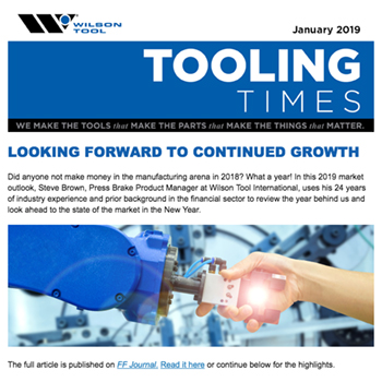 Tooling Times January 2019 e-Newsletter