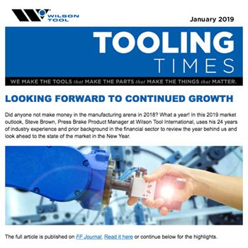 Tooling Times e-Newsletter January 2019