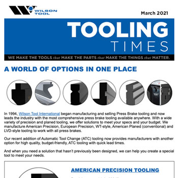 Tooling Times e-Newsletter March 2021