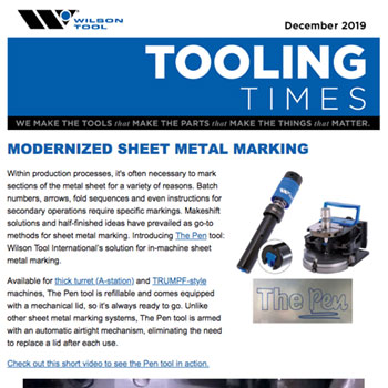 Tooling Times e-Newsletter December 2019