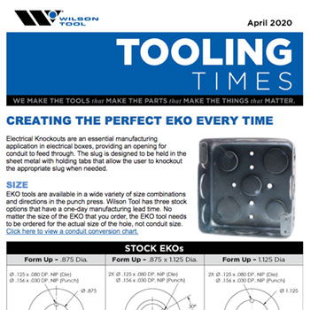 Tooling Times e-Newsletter April 2020