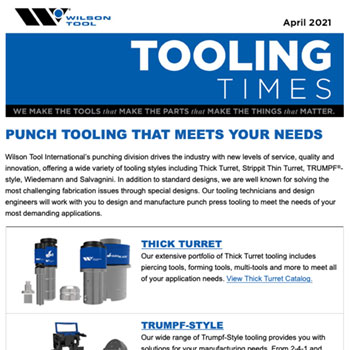 Tooling Times e-Newsletter April 2021