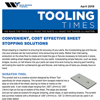 Tooling Times e-Newsletter April 2019