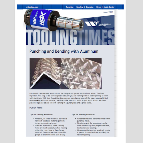 Tooling Times e-Newsletter - June 2013 | Tooling Catalogs