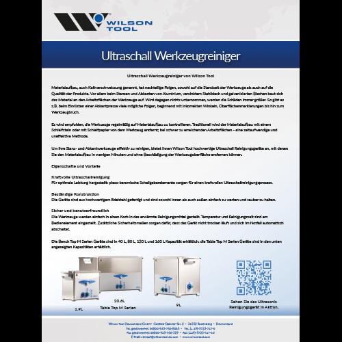 Flyer - Ultraschall Werkzeugreinigungsgeräte