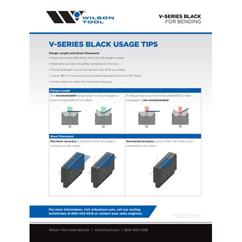 V-Series Black Usage Tips