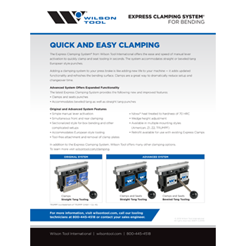 Express Clamping System Flyer