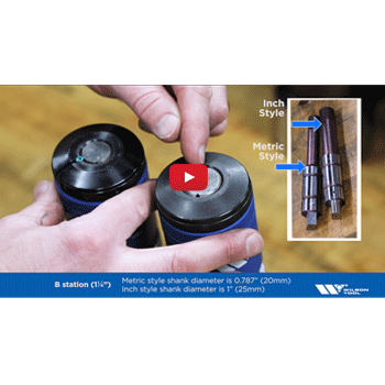 Identifying Metric and Inch A&B Style Thick Turret Punches Video Preview