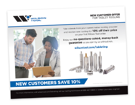 NEW TABLETING CUSTOMERS SAVE 10%